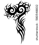 tribal tattoo art designs.... | Shutterstock .eps vector #580548832
