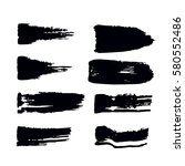 set of black paint  ink  grunge ... | Shutterstock .eps vector #580552486
