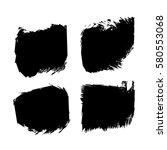 set of black paint  ink  grunge ... | Shutterstock .eps vector #580553068