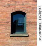 Single Window On Brick Buildin...