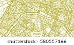 detailed vector map of paris in ... | Shutterstock .eps vector #580557166
