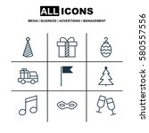 Set Of 9 Christmas Icons....