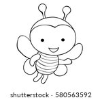vector book coloring bee cartoon