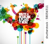 funky graphic design   abstract ...   Shutterstock .eps vector #58056511