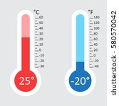 celsius and fahrenheit... | Shutterstock .eps vector #580570042