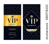 vip party premium invitation... | Shutterstock .eps vector #580578202