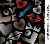 vector illustration. valentine... | Shutterstock .eps vector #580581352