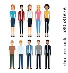 group people diverse community... | Shutterstock .eps vector #580581676