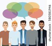 group men communication dialog... | Shutterstock .eps vector #580581946