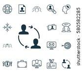 set of 16 business management... | Shutterstock . vector #580582285