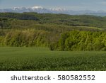 green fields  forests and... | Shutterstock . vector #580582552