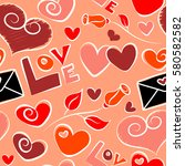vector seamless pattern hand... | Shutterstock .eps vector #580582582
