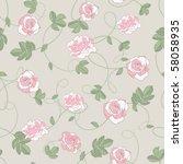 roses seamless background   Shutterstock .eps vector #58058935