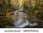 young adventurous woman... | Shutterstock . vector #580590442