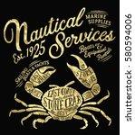 vintage nautical service marine ...   Shutterstock .eps vector #580594006