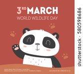 vector world wildlife day... | Shutterstock .eps vector #580598686