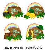 saint patrick's symbols vector  ... | Shutterstock .eps vector #580599292