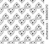 doodles cute seamless pattern.... | Shutterstock .eps vector #580600192