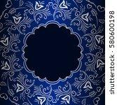 vector vintage floral... | Shutterstock .eps vector #580600198