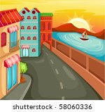 illustration of cartoon... | Shutterstock .eps vector #58060336