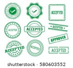 set of various accepted stamps | Shutterstock .eps vector #580603552