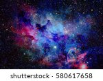 galaxy and nebula. elements of... | Shutterstock . vector #580617658