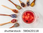 colorful blend herb tea...   Shutterstock . vector #580620118