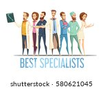 best medical specialists design ... | Shutterstock .eps vector #580621045