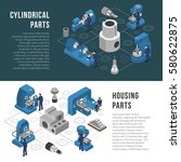 heavy industry production... | Shutterstock .eps vector #580622875