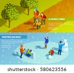 family outdoor activities 2... | Shutterstock .eps vector #580623556