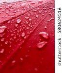 rain drops on water repellent...   Shutterstock . vector #580624516