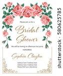 bridal shower or wedding... | Shutterstock .eps vector #580625785