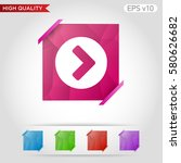 colored icon or button of right ... | Shutterstock .eps vector #580626682