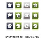background with set of glossy...   Shutterstock .eps vector #58062781