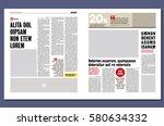 modern Graphical design newspaper template | Shutterstock vector #580634332