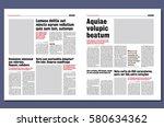Graphical design newspaper template | Shutterstock vector #580634362