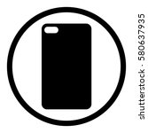phone case icon in circle on... | Shutterstock .eps vector #580637935