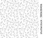 seamless pattern with grey... | Shutterstock .eps vector #580638406