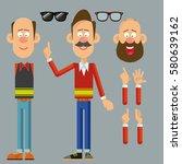 character set man | Shutterstock .eps vector #580639162