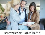 couple visiting home with real...   Shutterstock . vector #580640746