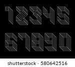 black and white set of numbers... | Shutterstock .eps vector #580642516
