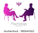 the psychologist and the client.... | Shutterstock .eps vector #580644262