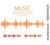 vector sound waves. music... | Shutterstock .eps vector #580644325