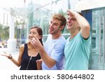 happy young people having fun... | Shutterstock . vector #580644802