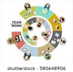flat design illustration... | Shutterstock .eps vector #580648906