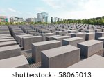 the jewish memorial in central...   Shutterstock . vector #58065013