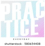 active sport graphic. vector... | Shutterstock .eps vector #580654408