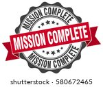 mission complete. stamp.... | Shutterstock .eps vector #580672465