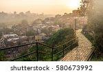 beautiful sunset view of...   Shutterstock . vector #580673992