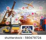 business logistics concept ... | Shutterstock . vector #580678726